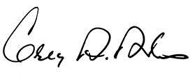 Greg A. Adams signature