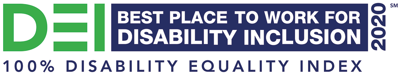 Best Place to Work for Disability and Inclusion 100% Disability Equality Index