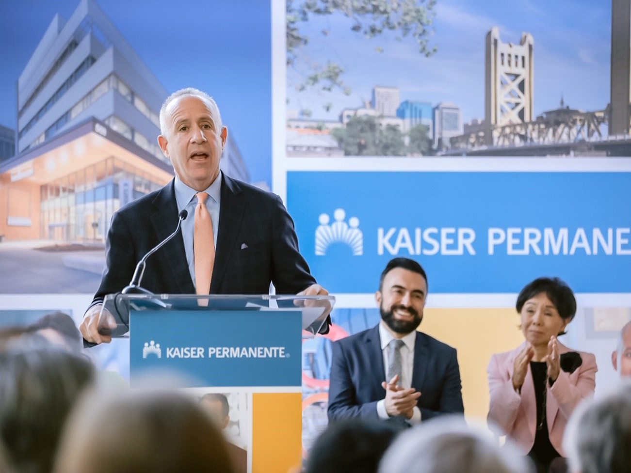 Sacramento Mayor Darrell Steinberg speaks at a press conference Thursday announcing Kaiser Permanente's $32 million commitment to affordable housing and homelessness in the Sacramento area.